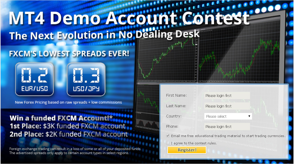fxcm mt4 demo account